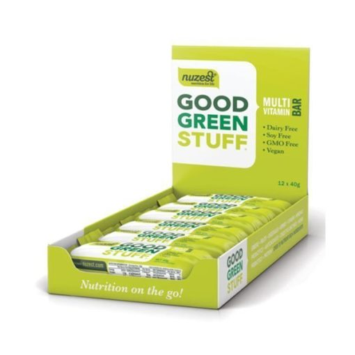 Good Green Stuff Bar - Box of 12        40g Bars x 12