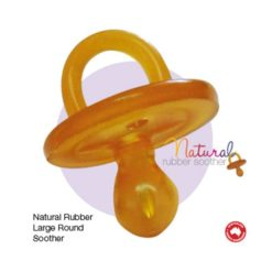 Natural Rubber Soothers Round Large 6+ Months