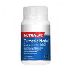 Nutra Life Turmeric Meriva Curcumin 550mg        30 Capsules
