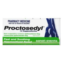 Proctosedyl Suppositories 12 Suppositories