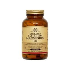 Solgar Chelated Calcium / Magnesium 1:1        120 Capsules