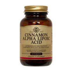 Solgar Cinnamon Alpha Lipoic Acid 60 VegeCapsules