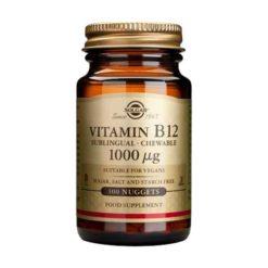 Solgar Vitamin B-12 1000ug (cyanocobalamin) Sublingual Chewable        100 Nuggets