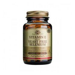 Solgar Vitamin E w Selenium Yeast Free 50 VegeCapsules