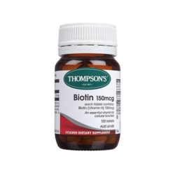 Thompsons Biotin 150mcg        100 Tablets