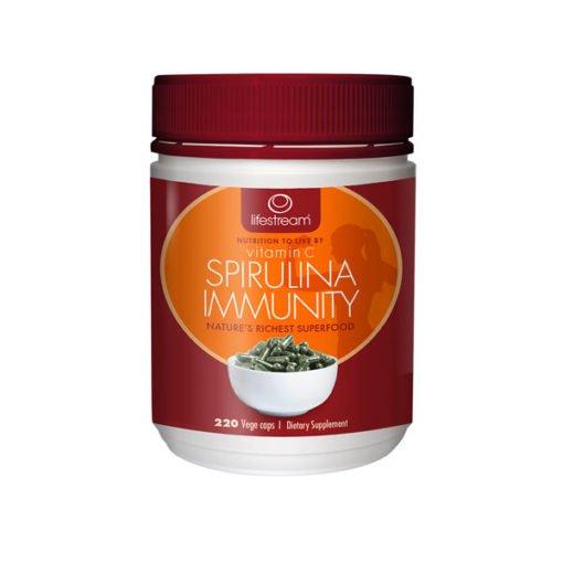 Lifestream Vitamin C Spirulina Immunity Organic        220 Capsules