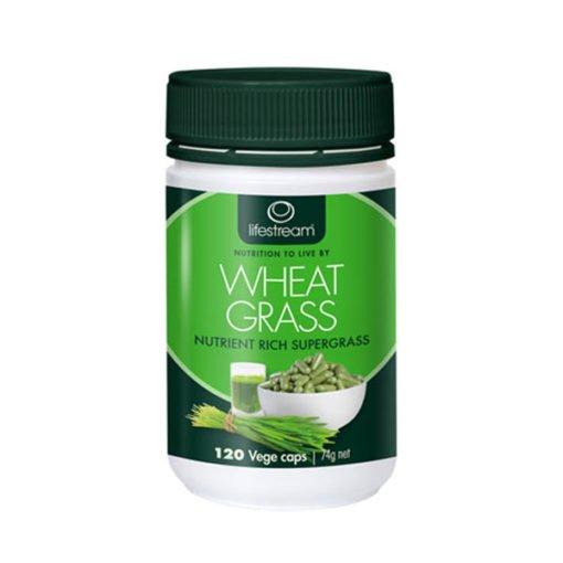 Lifestream Wheat Grass - Organic        120 Capsules