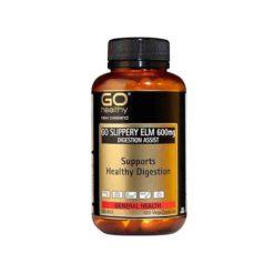 Go Slippery Elm 600mg - Digestion Support        60 VegeCapsules