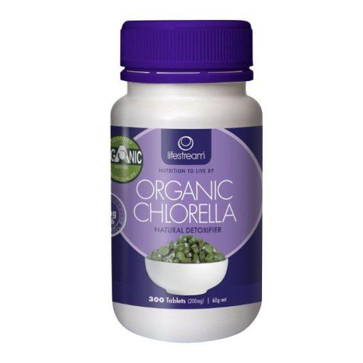 Lifestream Chlorella - Certified Organic 200mg        300 Tablets