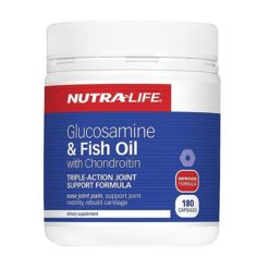 Nutra Life Glucosamine & Fish Oil With Chondroitin        180 Capsules