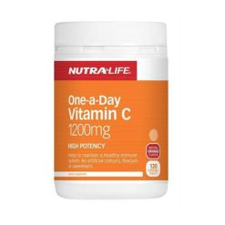 Nutra Life One-a-day Vitamin C 1200mg High Potency        120 Tablets