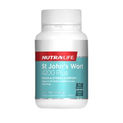 Nutra Life St Johns Wort 4200mg Plus        60 Capsules