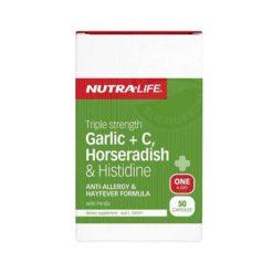 Nutra Life Triple Strength Garlic + C Horseradish & Histidine        50 Capsules