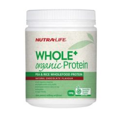 Nutra Life Whole + Organic Protein Pea & Rice Chocolate        500g