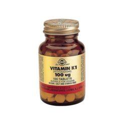 Solgar Vitamin K1 100mcg        100 Tablets